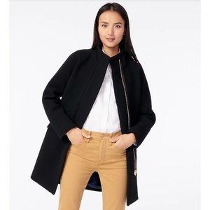 J. Crew Black Wool Cocoon Coat
